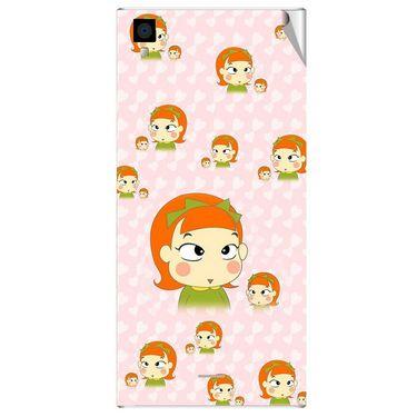 Snooky 47570 Digital Print Mobile Skin Sticker For Xolo Q600s - Orange