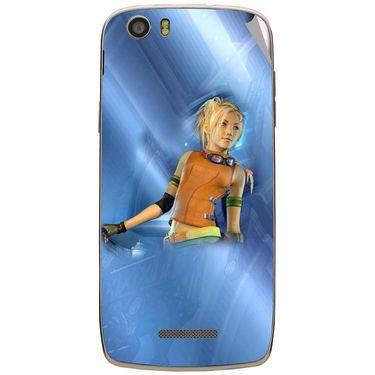 Snooky 47643 Digital Print Mobile Skin Sticker For Xolo Q700s - Blue
