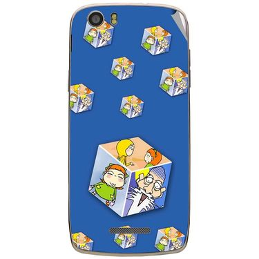 Snooky 47663 Digital Print Mobile Skin Sticker For Xolo Q700s - Blue