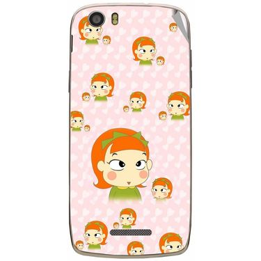Snooky 47666 Digital Print Mobile Skin Sticker For Xolo Q700s - Orange