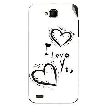 Snooky 47684 Digital Print Mobile Skin Sticker For Xolo Q800 - White