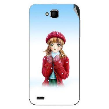 Snooky 47691 Digital Print Mobile Skin Sticker For Xolo Q800 - White