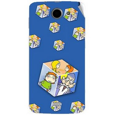 Snooky 47791 Digital Print Mobile Skin Sticker For Xolo Q1000 - Blue