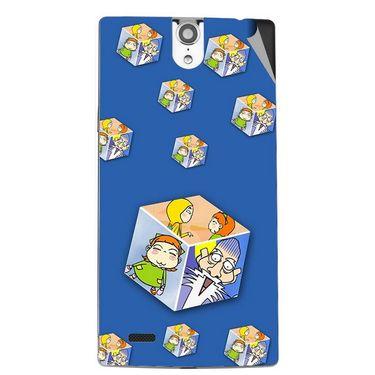 Snooky 47855 Digital Print Mobile Skin Sticker For Xolo Q1010i - Blue