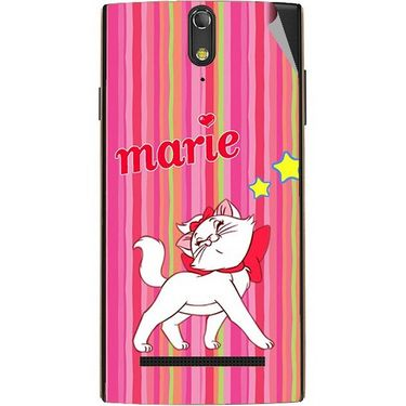 Snooky 47872 Digital Print Mobile Skin Sticker For Xolo Q1020 - Pink