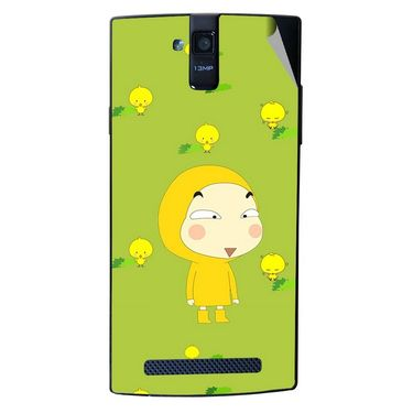 Snooky 47892 Digital Print Mobile Skin Sticker For Xolo Q2000 - Green