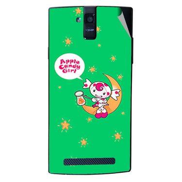 Snooky 47895 Digital Print Mobile Skin Sticker For Xolo Q2000 - Green