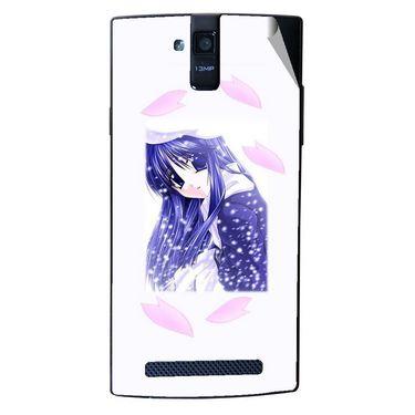 Snooky 47918 Digital Print Mobile Skin Sticker For Xolo Q2000 - White
