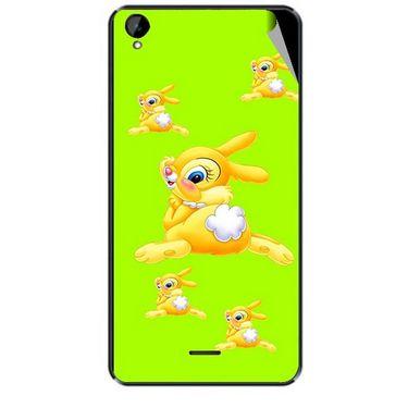 Snooky 47938 Digital Print Mobile Skin Sticker For Xolo Q2000L - Green