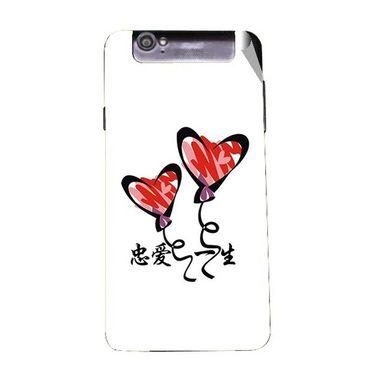 Snooky 47973 Digital Print Mobile Skin Sticker For Xolo Q3000 - White