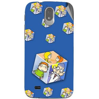 Snooky 48015 Digital Print Mobile Skin Sticker For Xolo Play T1000 - Blue