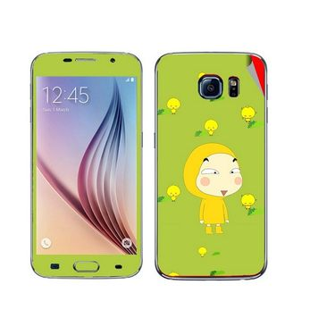 Snooky 48211 Digital Print Mobile Skin Sticker For Samsung Galaxy S6 - Green