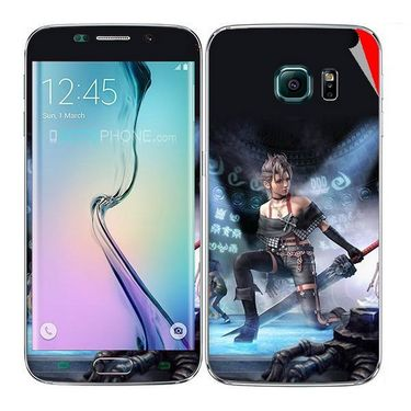 Snooky 48251 Digital Print Mobile Skin Sticker For Samsung Galaxy S6 Edge - Blue