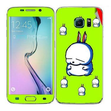 Snooky 48252 Digital Print Mobile Skin Sticker For Samsung Galaxy S6 Edge - Green