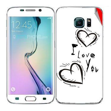 Snooky 48259 Digital Print Mobile Skin Sticker For Samsung Galaxy S6 Edge - White