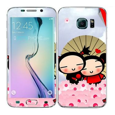 Snooky 48274 Digital Print Mobile Skin Sticker For Samsung Galaxy S6 Edge - Multicolour