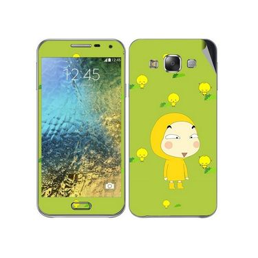 Snooky 48275 Digital Print Mobile Skin Sticker For Samsung Galaxy E7 - Green