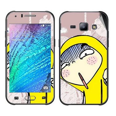 Snooky 48335 Digital Print Mobile Skin Sticker For Samsung Galaxy J1 - Multicolour