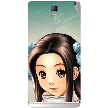 Snooky 48341 Digital Print Mobile Skin Sticker For Lava Iris Fuel 50 - Multicolour