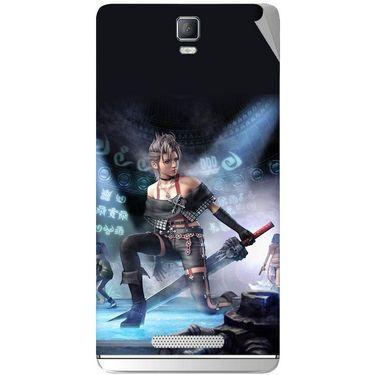 Snooky 48347 Digital Print Mobile Skin Sticker For Lava Iris Fuel 50 - Blue