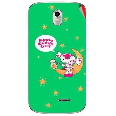 Snooky 48374 Digital Print Mobile Skin Sticker For Lava Iris 402 Plus - Green