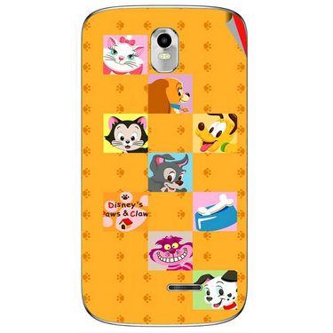 Snooky 48382 Digital Print Mobile Skin Sticker For Lava Iris 402 Plus - Yellow