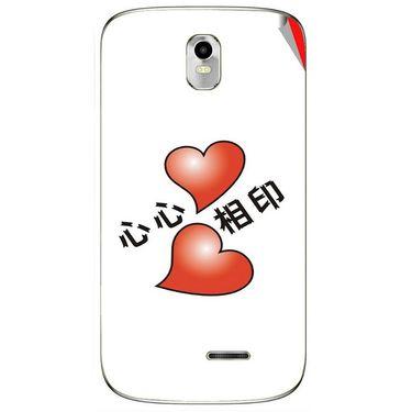 Snooky 48386 Digital Print Mobile Skin Sticker For Lava Iris 402 Plus - White