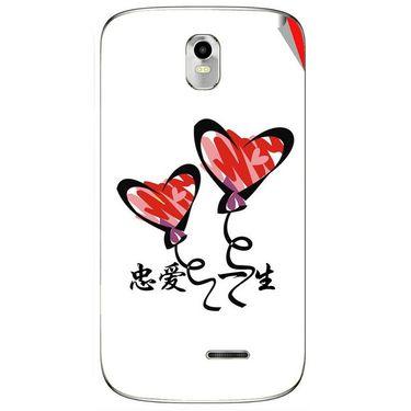 Snooky 48388 Digital Print Mobile Skin Sticker For Lava Iris 402 Plus - White