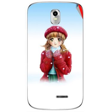 Snooky 48394 Digital Print Mobile Skin Sticker For Lava Iris 402 Plus - White