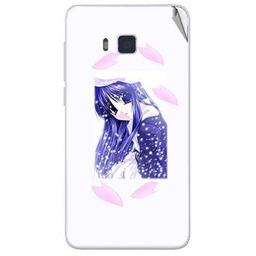 Snooky 48429 Digital Print Mobile Skin Sticker For Lava Iris 406Q - White