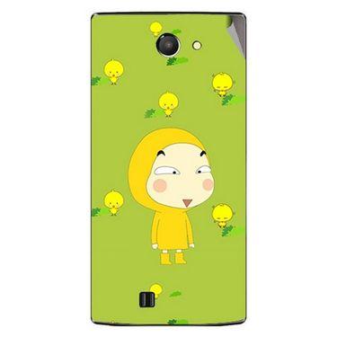 Snooky 48435 Digital Print Mobile Skin Sticker For Lava Iris 456 - Green