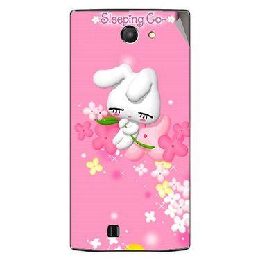 Snooky 48439 Digital Print Mobile Skin Sticker For Lava Iris 456 - Pink