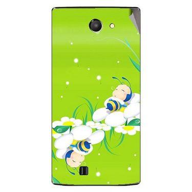 Snooky 48441 Digital Print Mobile Skin Sticker For Lava Iris 456 - Green