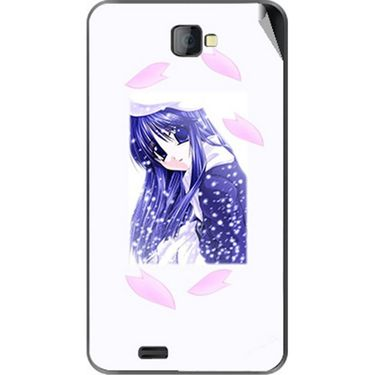 Snooky 48493 Digital Print Mobile Skin Sticker For Lava Iris 502 - White