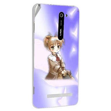 Snooky 48524 Digital Print Mobile Skin Sticker For Lava Iris 503 - Purple