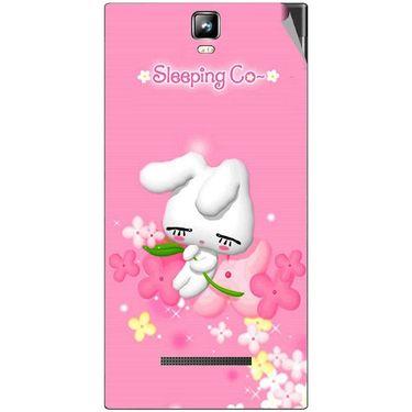 Snooky 48535 Digital Print Mobile Skin Sticker For Lava Iris 504Q Plus - Pink