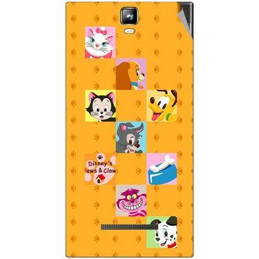 Snooky 48542 Digital Print Mobile Skin Sticker For Lava Iris 504Q Plus - Yellow