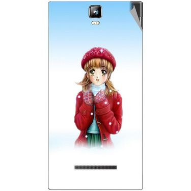 Snooky 48554 Digital Print Mobile Skin Sticker For Lava Iris 504Q Plus - White