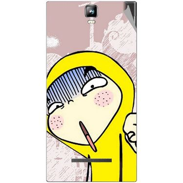 Snooky 48559 Digital Print Mobile Skin Sticker For Lava Iris 504Q Plus - Multicolour