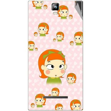 Snooky 48561 Digital Print Mobile Skin Sticker For Lava Iris 504Q Plus - Orange