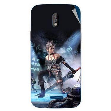 Snooky 48667 Digital Print Mobile Skin Sticker For Lava Iris 450 - Blue