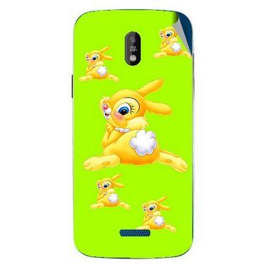 Snooky 48673 Digital Print Mobile Skin Sticker For Lava Iris 450 - Green