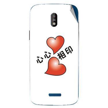 Snooky 48674 Digital Print Mobile Skin Sticker For Lava Iris 450 - White