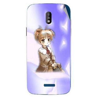 Snooky 48684 Digital Print Mobile Skin Sticker For Lava Iris 450 - Purple