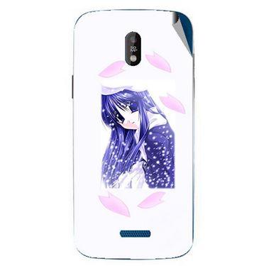 Snooky 48685 Digital Print Mobile Skin Sticker For Lava Iris 450 - White