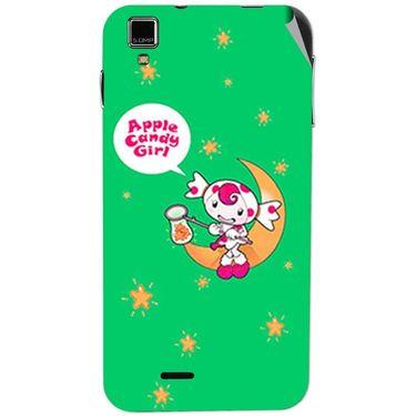 Snooky 48726 Digital Print Mobile Skin Sticker For Lava Iris 405 Plus - Green