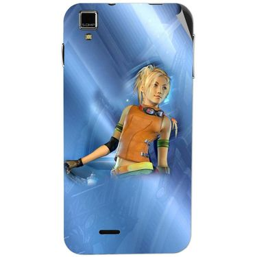 Snooky 48730 Digital Print Mobile Skin Sticker For Lava Iris 405 Plus - Blue