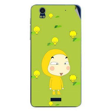 Snooky 48755 Digital Print Mobile Skin Sticker For Lava Iris Pro 20 - Green