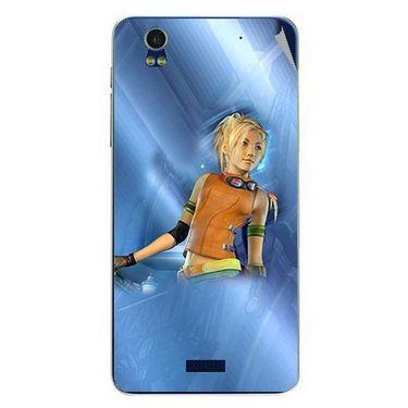 Snooky 48762 Digital Print Mobile Skin Sticker For Lava Iris Pro 20 - Blue