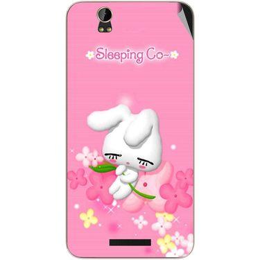 Snooky 48791 Digital Print Mobile Skin Sticker For Lava Iris X1 - Pink